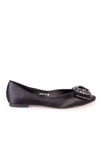 Sunnydaysweety black Big Sale Item - New Square Buckle Pointed Flat Shoes C032999 BD008SHE74F8F0GS_1