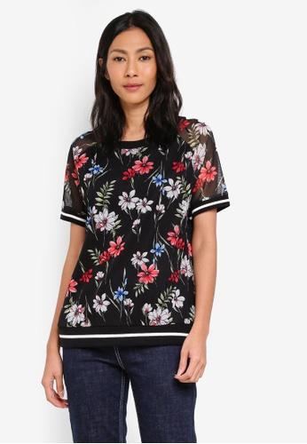 ESPRIT black Short Sleeve Sweatshirt 92AE6AA7F1DC63GS_1