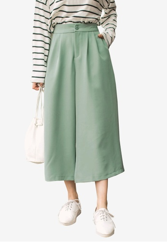 Tokichoi green Paperbag Culottes 8ACB4AAFECA109GS_1