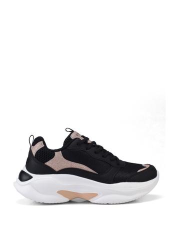 NOVENI black Glitter Sneakers 62051SH8A4F409GS_1