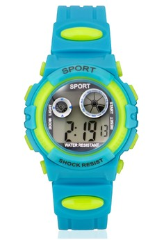 Sport Unisex Turquoise PVC Strap Watch 1409-5