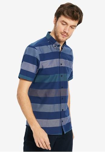 LC Waikiki navy Regular Fit Striped Oxford Shirt 9FC20AA3E59941GS_1