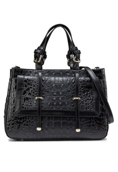 Faux Croc Satchel