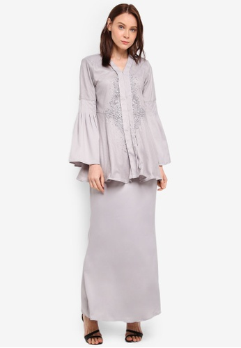 peace collections grey Lace Patch Kebaya 0F6C8AAB6E0865GS_1