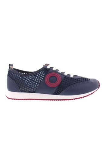 Beira Rio pink and navy Laced Up Casual Sneakers BE995SH47XEIHK_1
