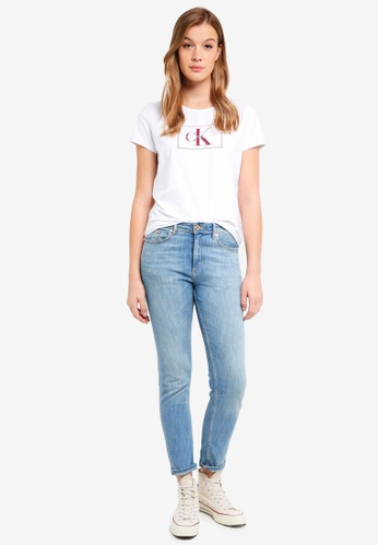 Calvin Klein white A-Outline Monogram - Calvin Klein Jeans 63D96AA0F0378EGS_1