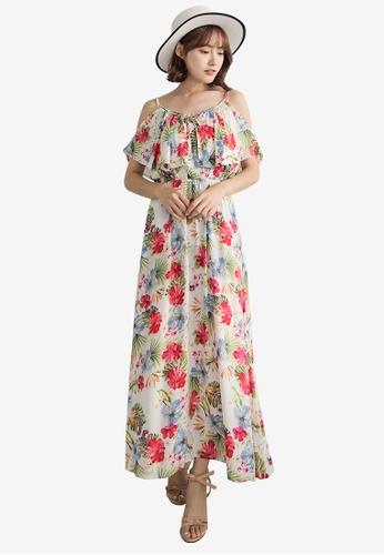 Tokichoi white Floral Print Cami Maxi Dress BAB5FAA3E80148GS_1