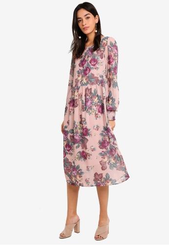 Vero Moda pink Gina Calf Dress B6B9CAA586BA2AGS_1