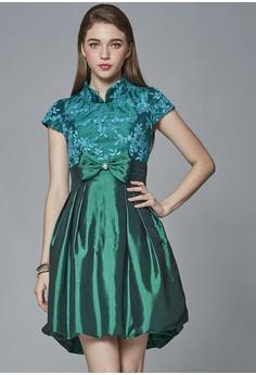 中國風復古娃娃高腰洋裝