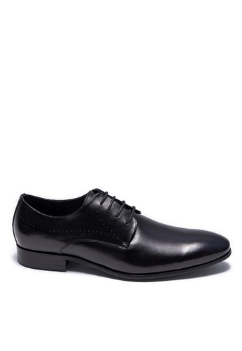 Life8 black Formal Pointy Toe Lace-Up Leather Shoes-09898-Black 05842SH6C4E09CGS_1