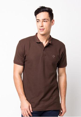 Endorse Polo Shirt E St Plane Brown END-PF086