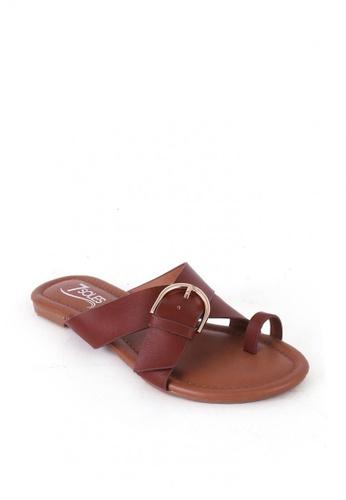7soles brown Linette Ladies Sandals EE111SH71849DCGS_1