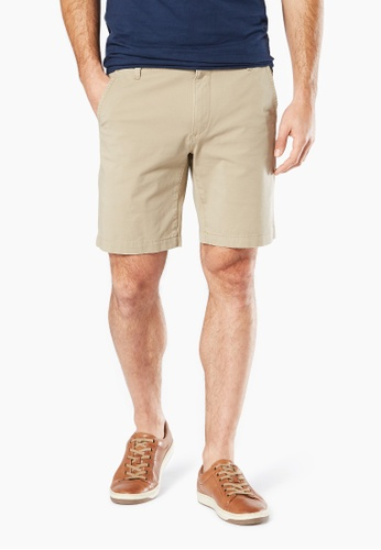 Dockers brown Dockers 360 Straight Fit Shorts Khaki 96554AA9198BF5GS_1