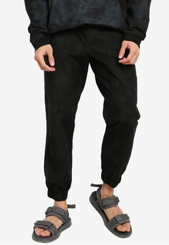 Mennace black Woven Tie Dye Joggers 0BCE6AA7F09903GS_1