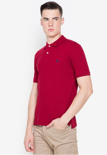 Springfield red Basic Polo Shirt D628AAABB75730GS_1