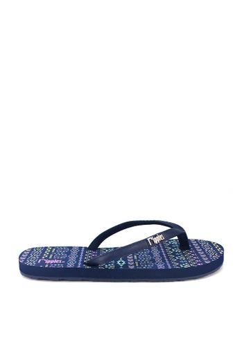 Ripples blue Arika Aztec Flip Flops 2FE62SH2F965CCGS_1