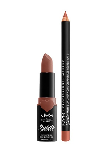 NYX Professional Makeup pink NYX Professional Makeup Suede Matte Lippie Duo Rosé The Day 8CF0CBE3E3AC44GS_1