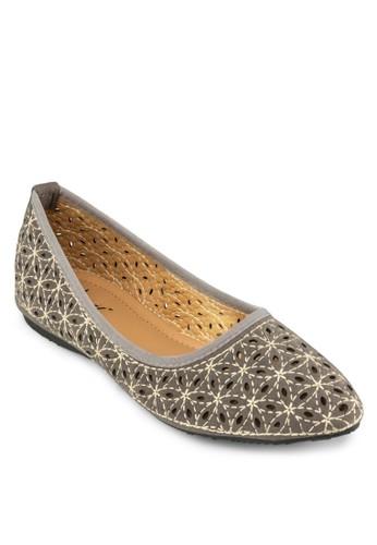 沖孔esprit 衣服平底鞋, 女鞋, 芭蕾平底鞋