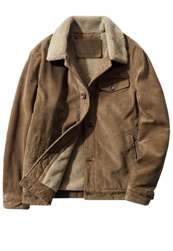 Twenty Eight Shoes brown VANSA Fashionable Warm Corduroy Coat  VCM-C83866 C94BBAAE0C9FE8GS_1