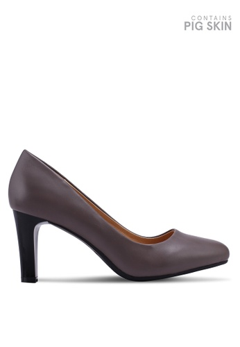BETSY grey Classic Pump Heels A3678SHEB17FCBGS_1