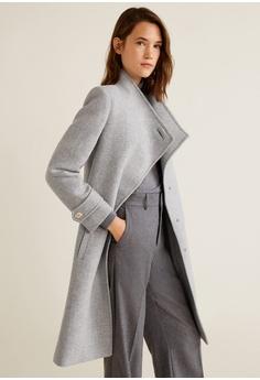 7ffd2a479c3 Mango Button Wool Coat S  279.00. Sizes S M