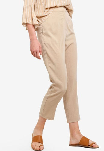Zalia brown Tailored Pants 55D5DAACED279BGS_1