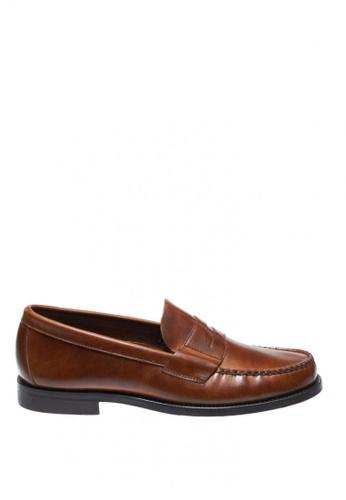 Sebago brown Heritage Penny Dress Casual Shoes SE328SH0JICUPH_1
