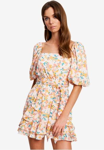 Tussah multi Tanika Mini Dress A46A4AA6A7E01FGS_1