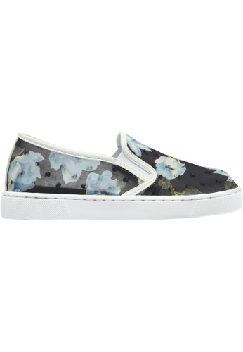 paperplanes grey and navy Paperplanes-1374 Flower Pattern Tall-Up Casual Slip-Ons Shoes US Women Size PA355SH58QSZSG_1