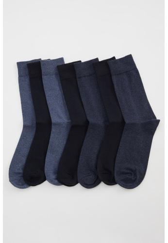 DeFacto navy Man 7-pieces Socks 8EABDAAF7DB831GS_1