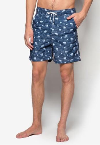 海浪印花休esprit鞋子閒泳褲, 服飾, 運動