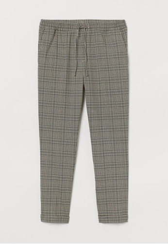 H&M multi and beige Slim Fit Joggers 103DBAA13C1448GS_1