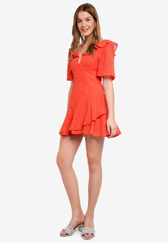 Finders Keepers orange Twilight Mini Dress 2B715AAC1F687AGS_1