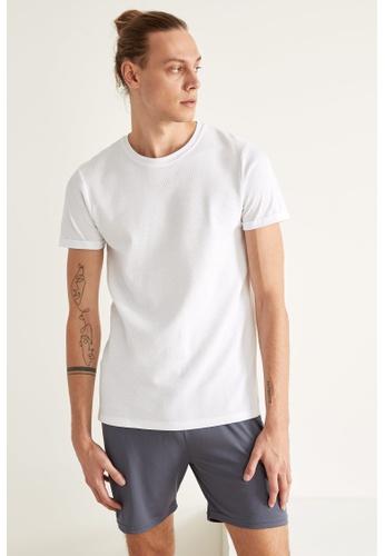 DeFacto white Man Knitted T-Shirt 13A93AA3664B07GS_1