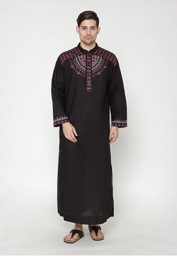 Arafah black Jubah Sultan 8E693AA8074D6DGS_1
