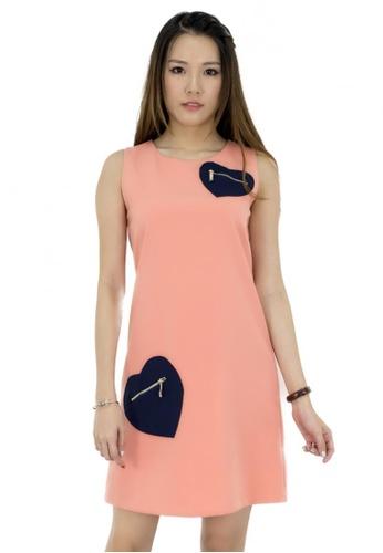 MOONRIVER orange Carrie Classic A Line Dress MO886AA43CTCSG_1