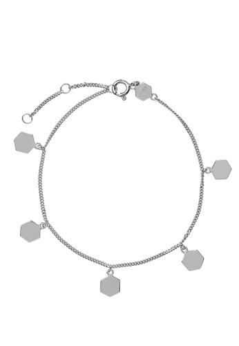 CLUSE 銀色 Essentielle 銀 Hexagon Charms Chain 手環 333CFAC95421A8GS_1