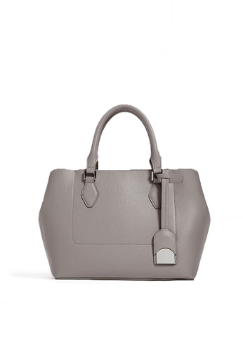 LULUGIFT grey Lulugift Special Ladies Shoulder Bag Zipper Handbag Grey LU989AC0RANBMY_1
