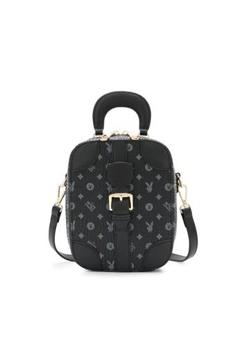 PLAYBOY BUNNY black Belted Top Handle Sling Bag A1936ACAB32362GS_1