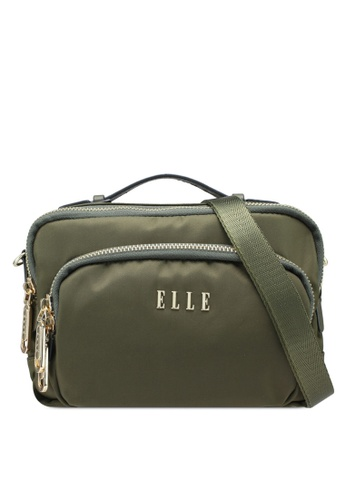 9d6a00f7424 ELLE green Jojoe Sling Bag E63A9AC4F5ABC2GS 1. CLICK TO ZOOM