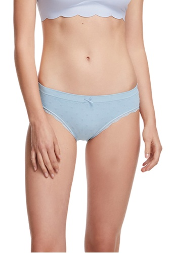 6IXTY8IGHT blue Circular Knit Low-rise Hipster Panty PT09602 F8C5EUS92F9C5BGS_1