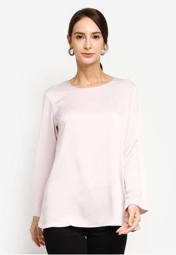 Aqeela Muslimah Wear white Flowy Blouse 74177AAA01A0EAGS_1