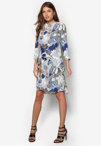 Stem 印花直筒連身裙, 服飾, 短洋zalora 折扣碼裝