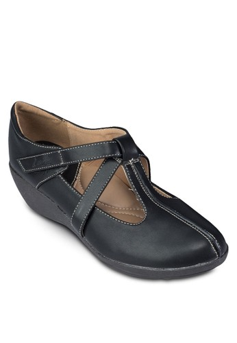 esprit tsim sha tsui交叉帶厚底休閒鞋, 女鞋, 涼鞋