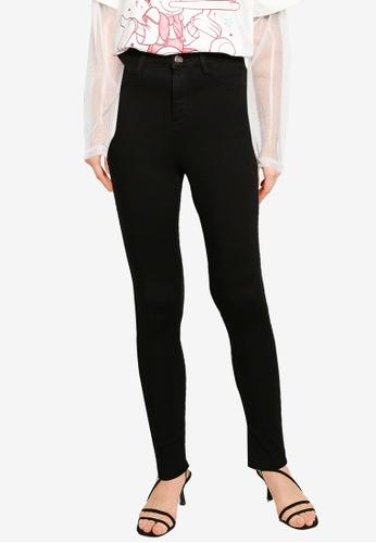 Dorothy Perkins black Black High Waist Frankie Jeans E79D2AA2DE4799GS_1
