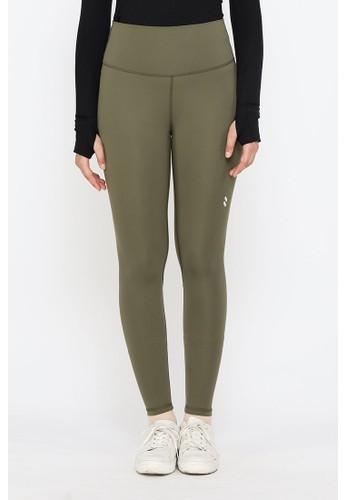 YUCCA MODEST green High Waist Sport Legging Premium Celana Olahraga Wanita Army Green - Yucca Modest BC141AA7D247FFGS_1