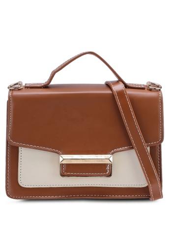 Berrybenka brown Triana Decca Top Handle Bag 9FE21ACE9A6A4BGS_1