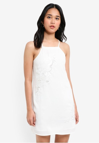 Something Borrowed white Embroidered Cut-In Cami Dress B1A81AAEAF92E9GS_1