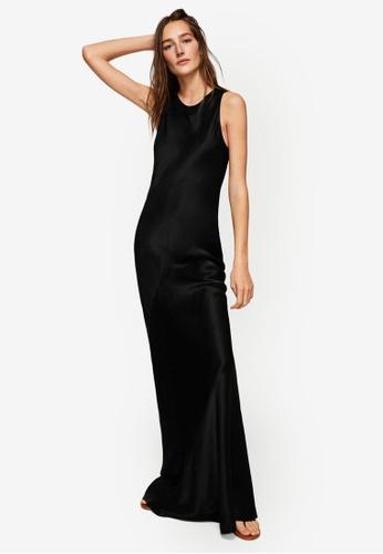 Mango black Satin Gown 09015AA0125D50GS_1