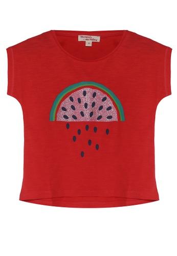 DU PAREIL AU MÊME (DPAM) red Red T-Shirt With Watermelon Print 57028KADF6C5E4GS_1